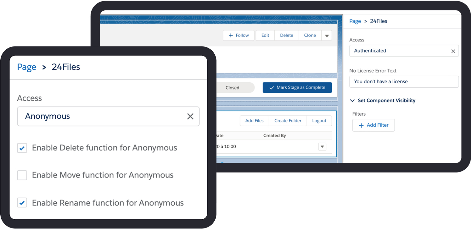 anonymous and authenticated access for 24files